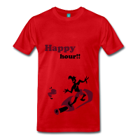 Happy Hour - Wine Bottle T-Shirts