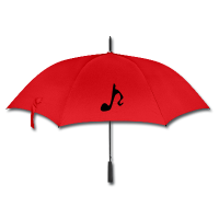 Red Umbrella Art Design - Musical Note