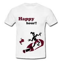 Wein Surfing - Happy Hour Party T-Shirts