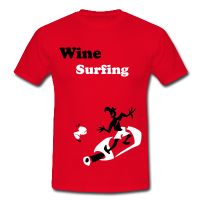 Wine Surfing - Cool Sport T-Shirts
