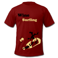 Wine Surfing - Funny Sport T-Shirts