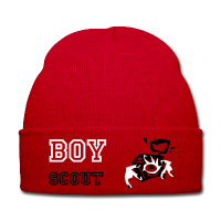 Winter Hat - Red Love Boy Scout